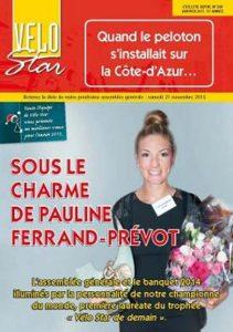 PFP tout sourire. Elle est la première femme sacrée au Trophée Vélo Star de demain.