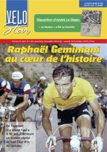 Toujours en verve, Raphaël Geminiani fait la une du VéloStar403.
