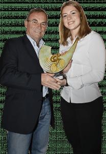 Mathilde Gros est la deuxième femme à recevoir le prix Vélo Star de demain.