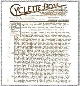 Cyclette-Revue, l'ancêtre de Vélo Star.