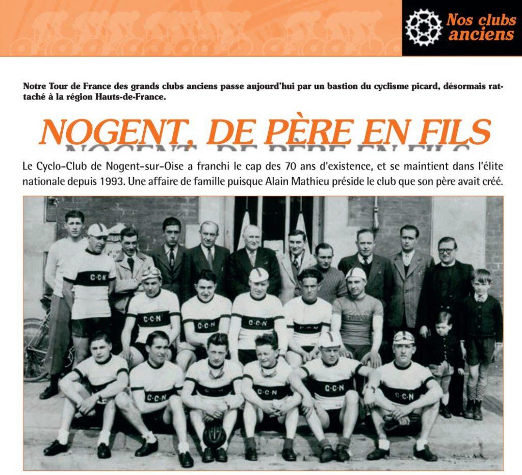 Image d'ouverture de l'article consacré au CC Nogent-sur-Oise dans le Vélo Star 408.