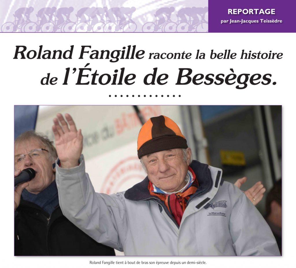 Roland Fangille organisateur de l'Étoile de Bessèges.